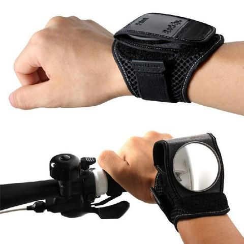BICYCLE WRIST SAFETY REAR-VIEW MIRROR