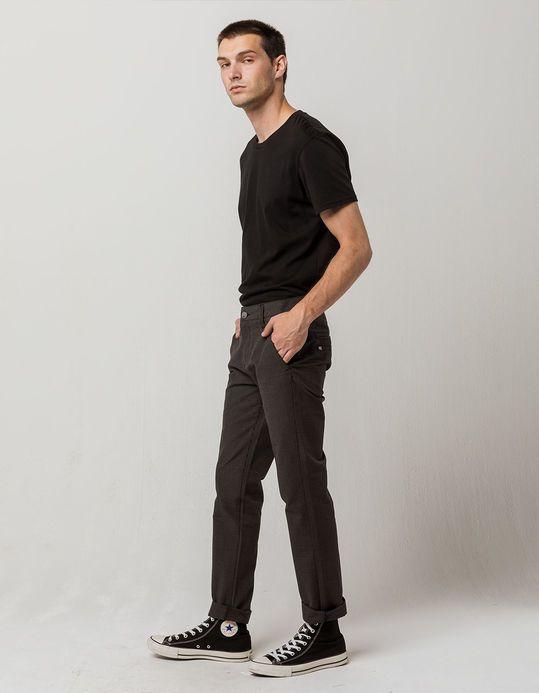 166922448 RSQ London Rigid Plaid Skinny Mens Chino Pants - BRWKH - 334608466 | Tillys