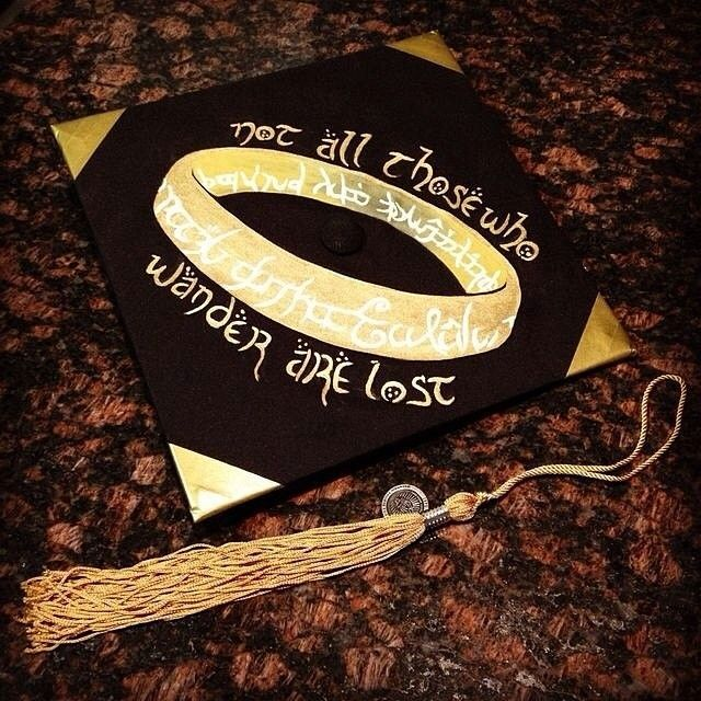 not all those who wander mortar board