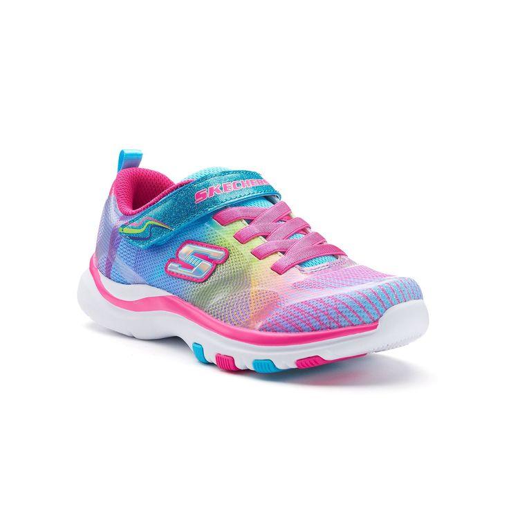 Skechers Pepsters Rainbow Preschool Girls' Sneakers, Girl's, Size: 12, Blue Other