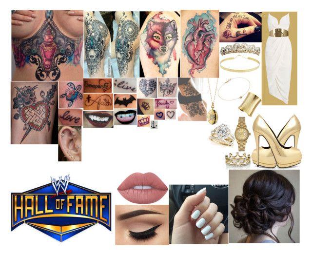 """WWE Hall Of Fame"" by belabmilagres on Polyvore featuring Lana, Stephanie Kantis, Jennifer Meyer Jewelry, Monica Rich Kosann, TIARA, Allurez, Erica…"