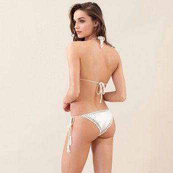 Slip bikini donna con lacci Bohemian