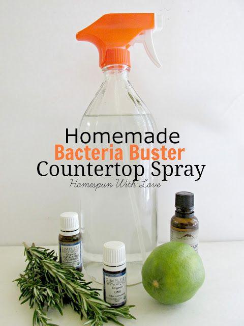 Homespun With Love: Homemade Bacteria Buster Countertop Spray