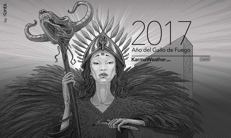 Horóscopo Chino 2017 del Año Nuevo 2017 y predicciones 2017 para los 12  signos del zodiaco chino. El Año del Gallo 2017 empieza el 28 de enero  2017. Por #karmaweather