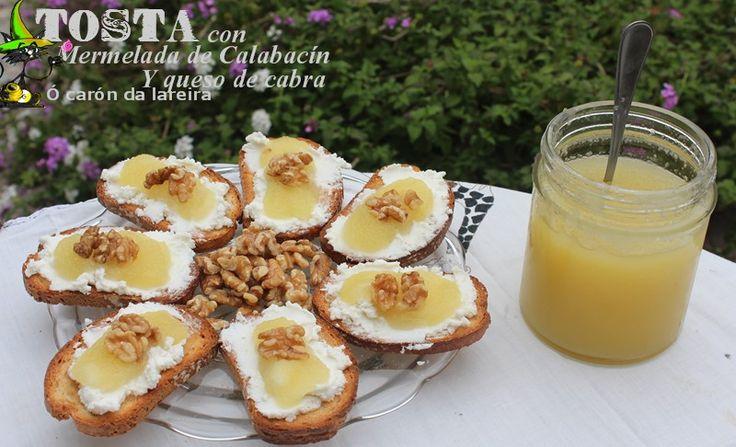 Tosta con Mermelada de Calabacín y queso de cabra