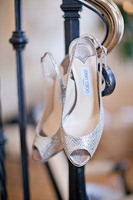 And, of course, her sparkly Jimmy Choo slingbacks!