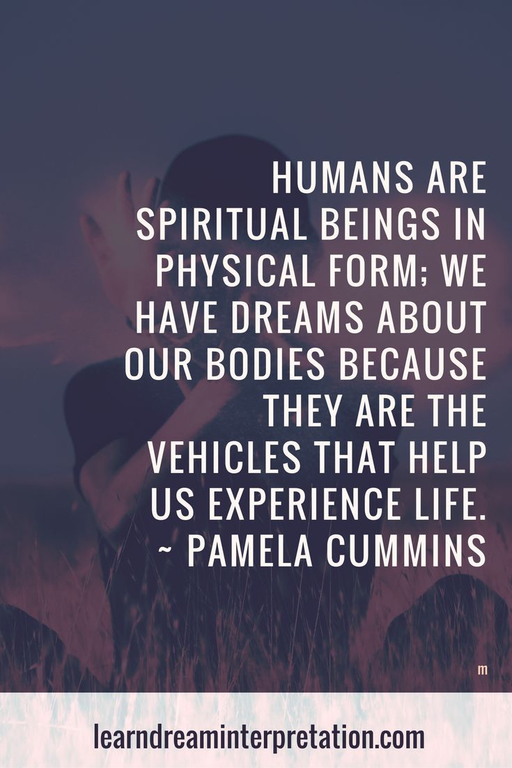 Dreams about our bodies quote on Dream Interpretation Classes and Workshops page