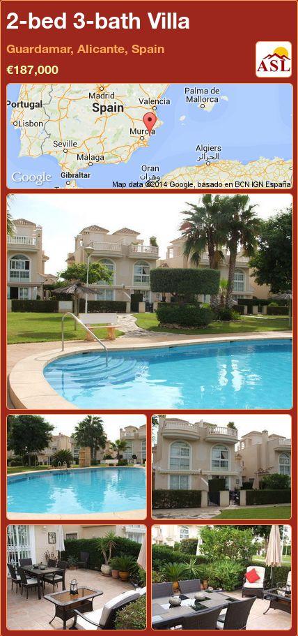 2-bed 3-bath Villa in Guardamar, Alicante, Spain ►€187,000 #PropertyForSaleInSpain