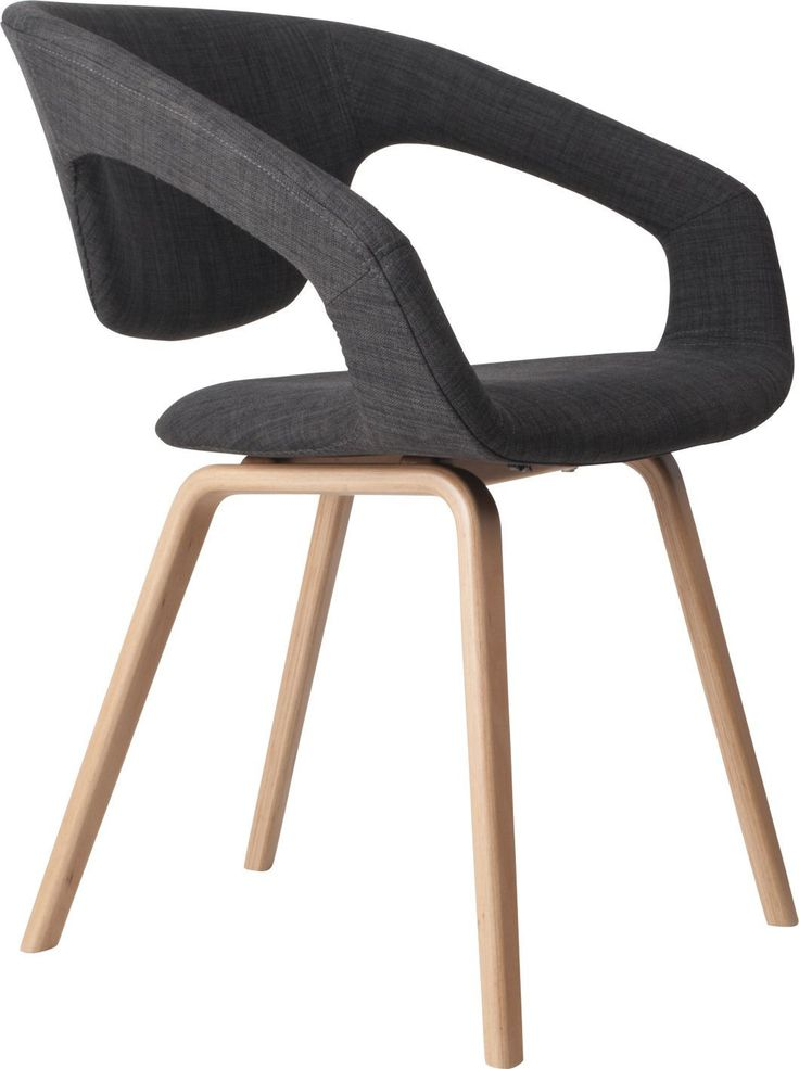 Zuiver :: Krzesło Flex Back - natural/dark grey ciemnoszary, brązowy   MEBLE \ Krzesła WYBIERZ SWÓJ STYL \ Eko WYBIERZ SWÓJ STYL \ Skandynawski   9design Warszawa