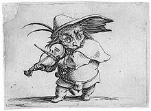Jacques Callot : les Gobbi :le joueur de violon.