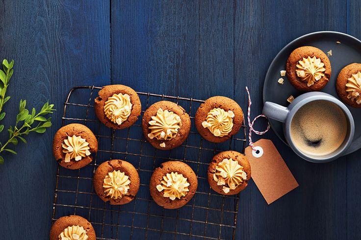 Cream Cheese Gingerbread Thumbprint Cookies