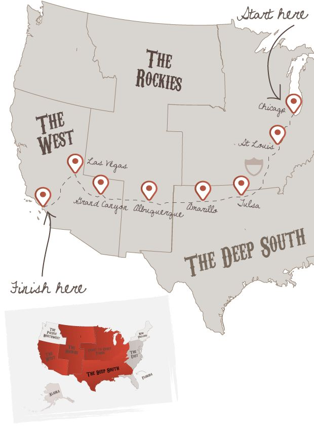 Route 66 Explorer. Being on the West Coast, we'd start there and end up on the East Coast!!