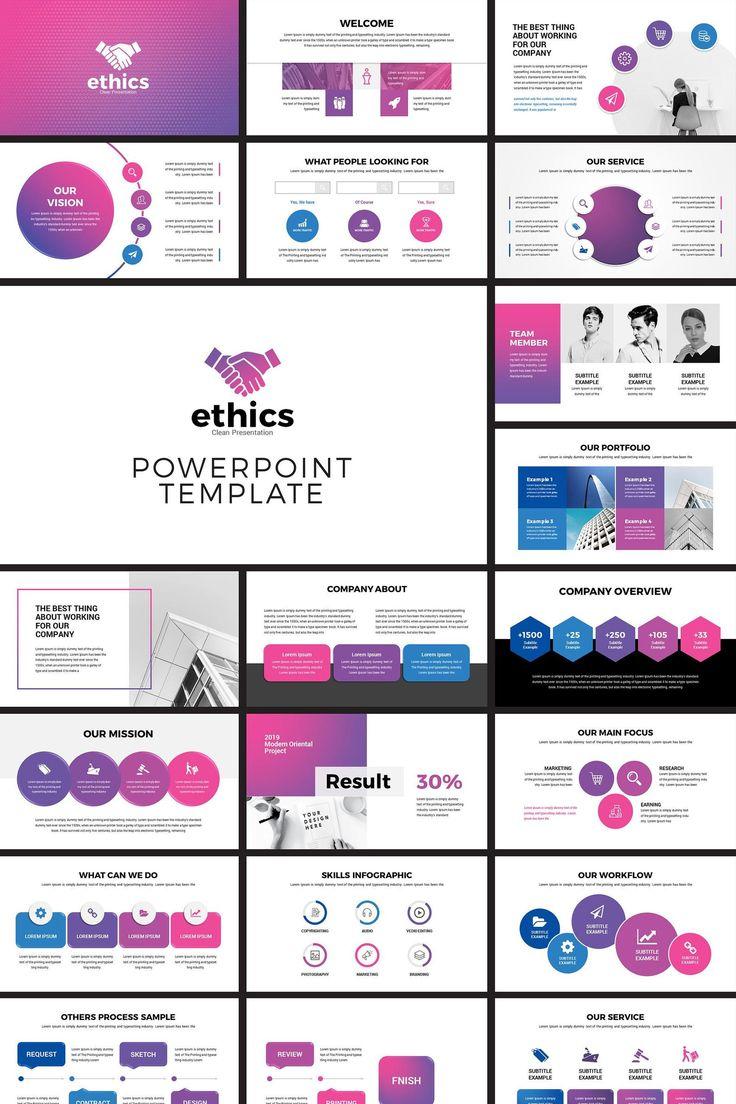 Modern Business PowerPoint Presentation Template Etsy