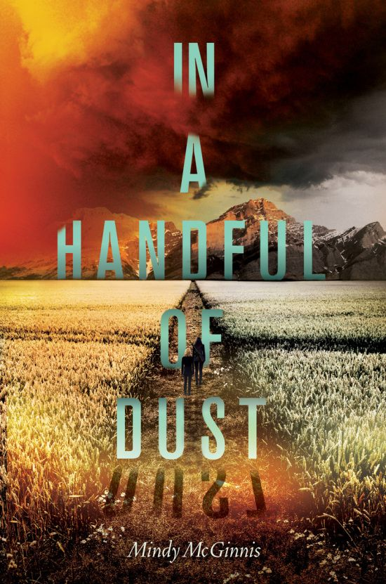 In a Handful of Dust by Mindy McGinnis. Cover designer: Erin Fitzsimmons.