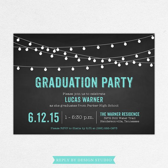 24 HOUR TURNAROUND - Graduation Invitation (Lucas) / Graduation Photo Invitation
