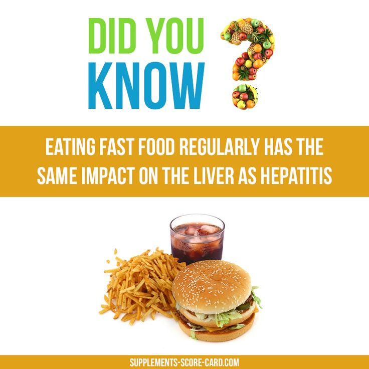 Stop Eating Too Much Fast Food!  Eating fast food regularly has the same impact on the liver as hepatitis  Things you dont know about food  Supplements ScoreCard
