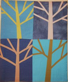 Winter Trees    My Winter Trees is finished, hot off the sewing machine, and it will be delivered tonight. I am a little anxious about giv...