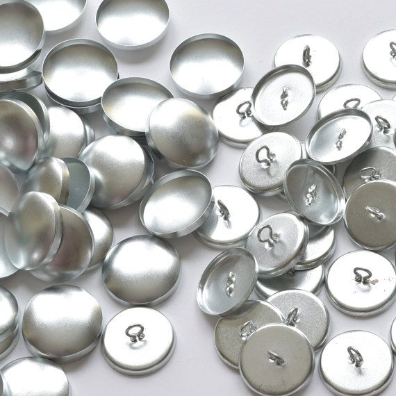 10 Self Cover Buttons 36 40 45 2 Parts Eye Back Button Metal