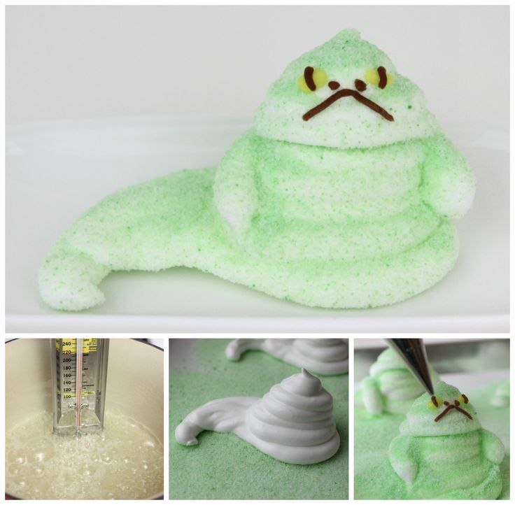 Who ever thought I'd say that Jabba is SO CUTE?! Jabba the Hutt marshmallow treats Recipe #MayTheForceBeWithYou #StarWars #Jabba