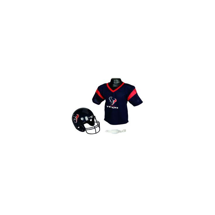 Franklin Sports NFL Team Helmet and Jersey Set - Ages 5-9 - Houston Texans, Kids Unisex