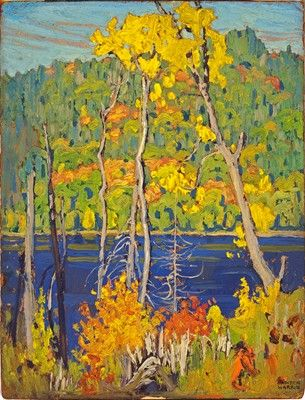 Mitchell Lake, Batchewanna, Algoma - Algoma Sketch CXXII, Lawren Harris, c. 1920