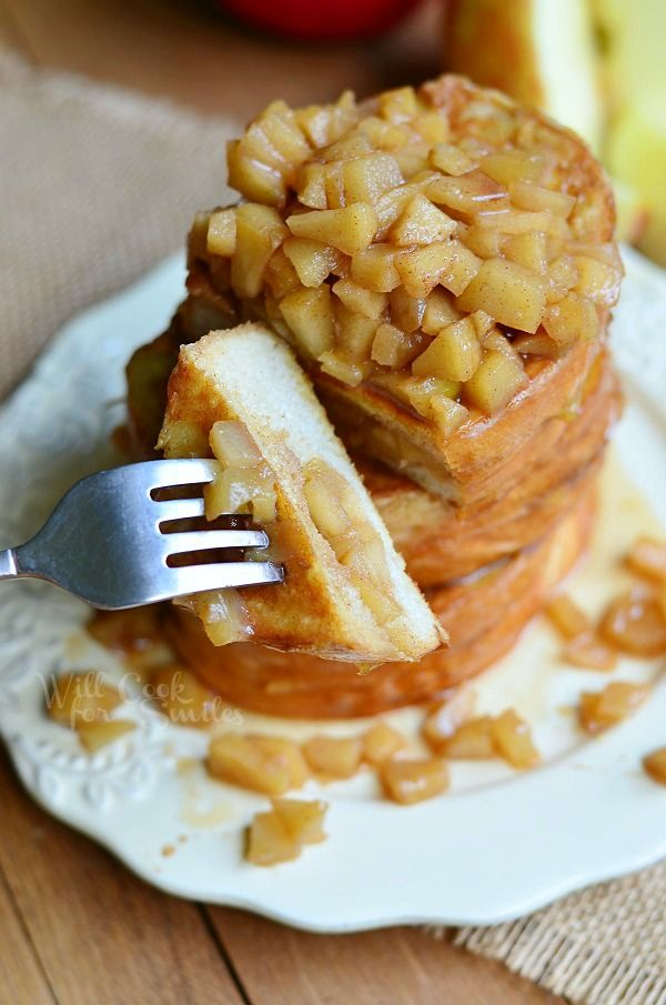 Apple Pie Stuffed French Toast | from willcookforsmiles.com