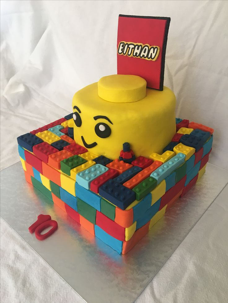 Lego cake. MadeByMe MadeWithLove for Eithan💙