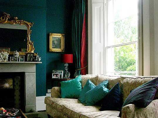 18 Best Images About Peacock Blue Green Living Room On