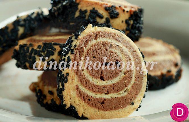 Μπισκότα σπιράλ με βανίλια και σοκολάτα   Dina Nikolaou