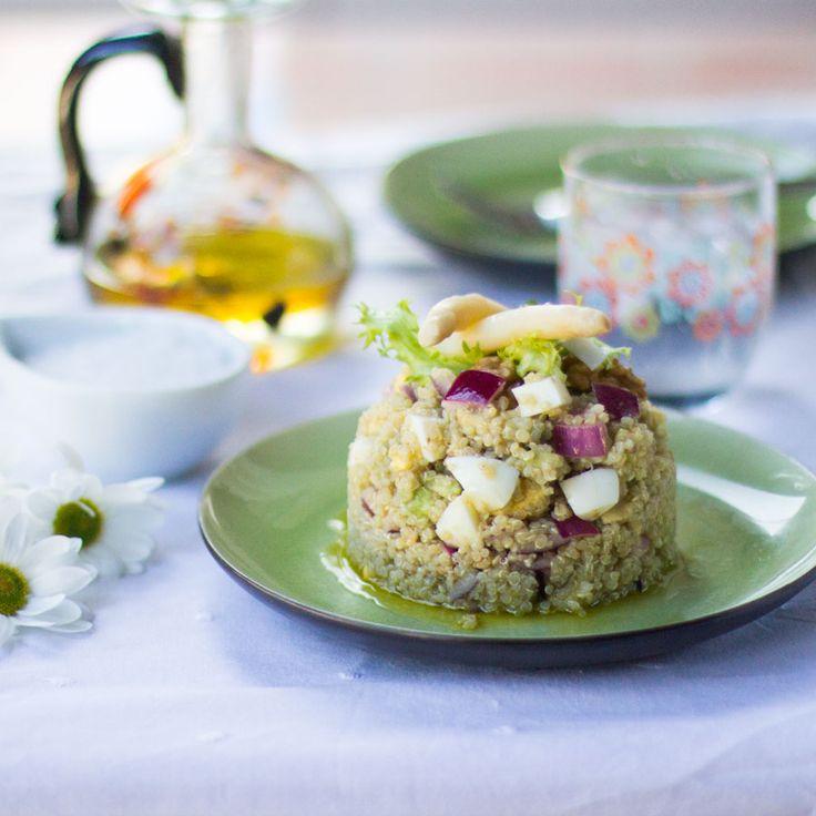 M s de 25 ideas incre bles sobre ensalada de quinoa en for Cocinar quinoa con pollo