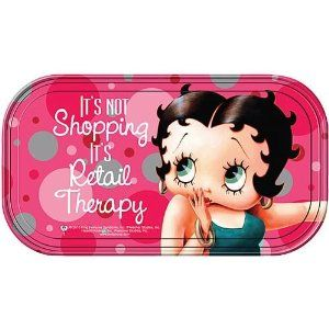 Betty Boop Retail Therapy Magnetic Mini Tin Sign,$4.99