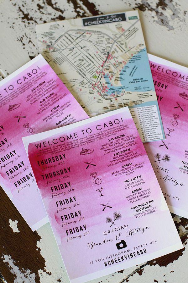 Wedding Gift Bag Itinerary : ... weddings, Destination wedding bags and Wedding weekend itinerary