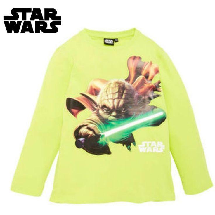 """Star Wars maglia manica lunga di """"yoda"""" da 3 a 8 anni Langarmshirt - Yoda"""