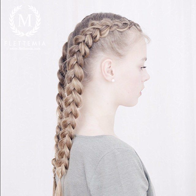 """Hollandske fletter på @julilouise  Video for disse flettene i forrige innlegg / Dutch braids in @julilouise  Video for these braids in my last post"" Photo taken by @flettemia on Instagram, pinned via the InstaPin iOS App! http://www.instapinapp.com (04/17/2016)"