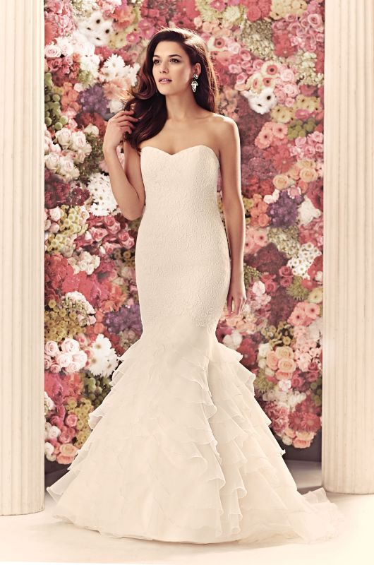Beautiful DISCONTINUED Gown Mikaella Bridal Mikaella Re embroidered Lace and Organza Wedding Dress