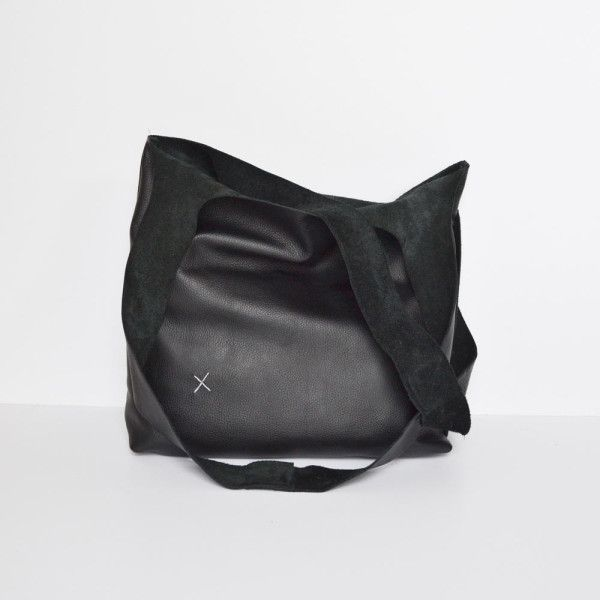 leather Cross tote bag