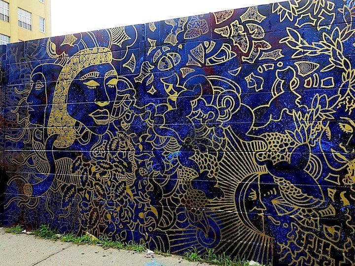 Brooklyn-based Artist Joshua Gabriel Fashions Two Elegant Murals in Bedford-Stuyvesant, Brooklyn (via Street Art NYC)