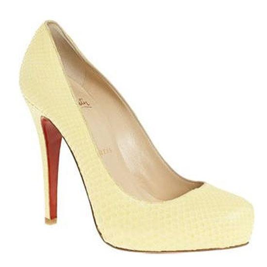 pale yellow louboutins
