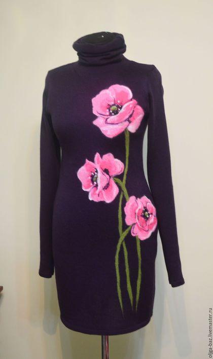 Платье вязаное ` Романтика`.