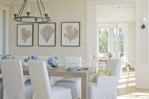 dining dining-room-ideasWall Colors, Dining Rooms, Beach House, Home Staging, Beach Cottages, Beach Style, Kate Jackson, Benjamin Moore, Dining Tables