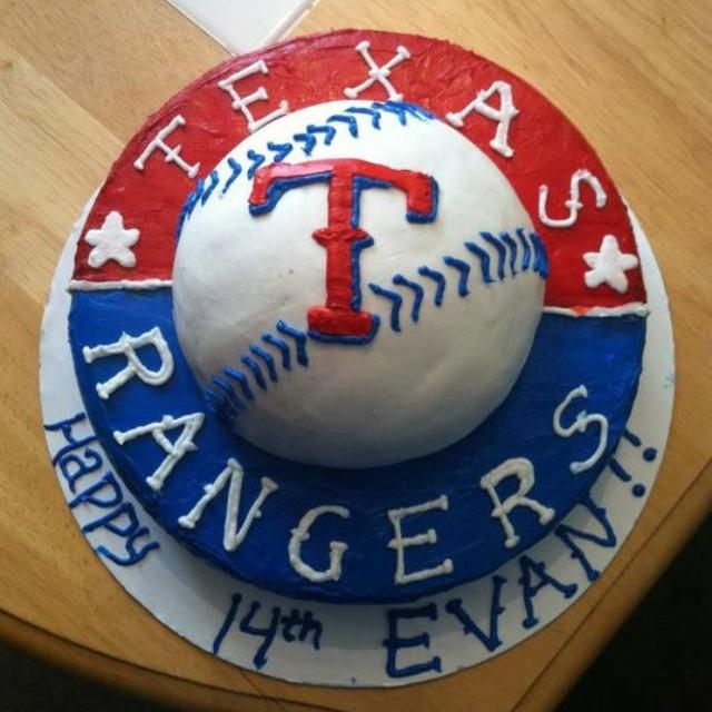 Texas Rangers cake via Crystal Meyers Franklin