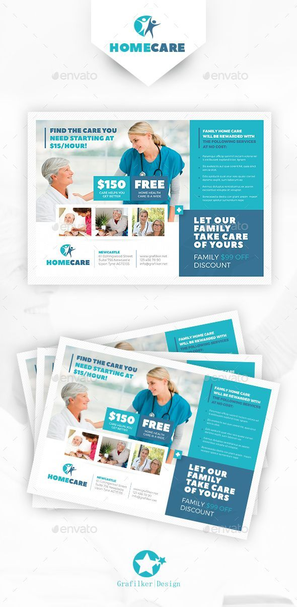 Home Health Care Flyer Template Psd Indesign Indd Download Here Http Graphicriver Net Item Home Health Care Home Health Care Medical Brochure Home Health