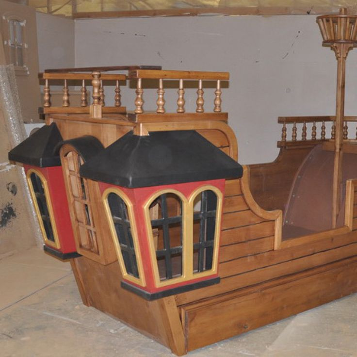 Pirate ship playset blueprints woodworking projects plans for Boat playhouse plans