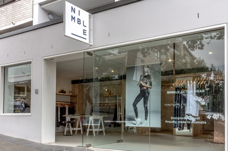 Nimble Activewear // Store Frontage