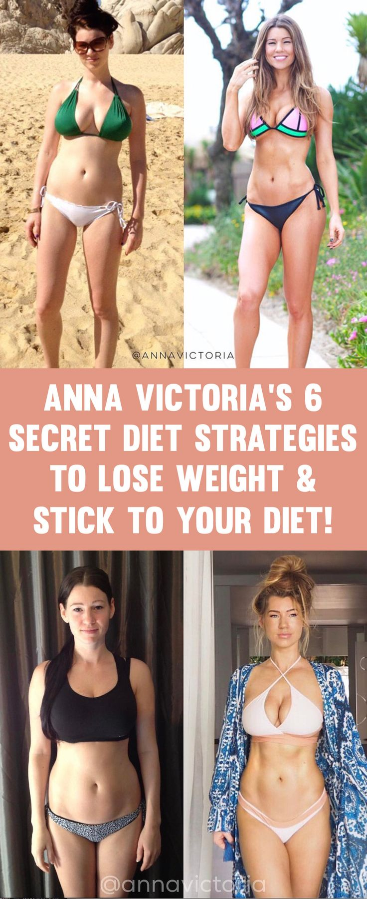 Anna Victoria's 6 Secret Diet Strategies To Lose Weight  & Stick To Your Diet!