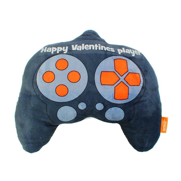 """Happy Valentines player"" with our unique emoji® Controller cushion. Let us be your Love Bomb Guru's with our fun quirky slogan cushions. Each official emoji® brand cushion comes with a unique ""Love Quotes"" slogan making them the perfect gift for your loved one at this special time be they Birthdays, Anniversary's or Valentines."