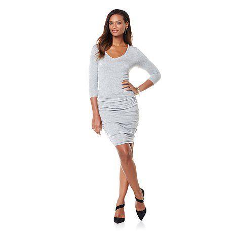Wendy Williams 3/4 Sleeve Jersey Knit Dress | HSN