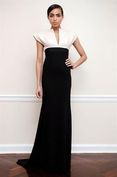 Черно белое платье картинки