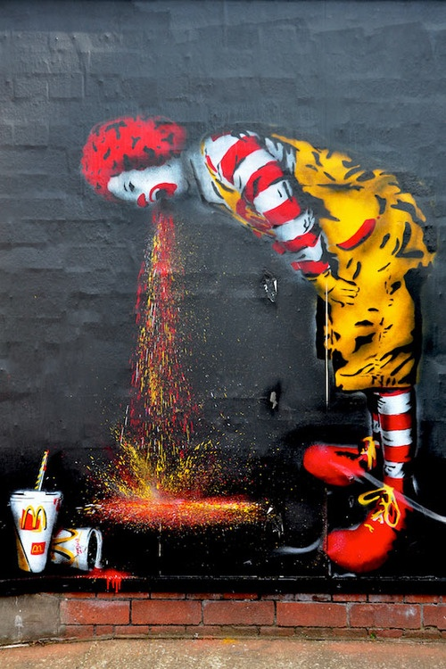 Ronald McDonald feeling under the weather