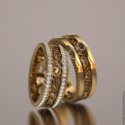 Купить или заказать Ажурные обручальные кольца с бриллиантами в интернет-магазине на Ярмарке Мастеров. Ажурные обручальные кольца с бриллиантами…